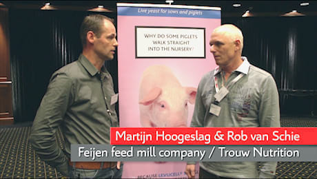 Rob van Schie (Trouw Nutrition) and Martijn Hoogeslag (Feijen feed mill company)