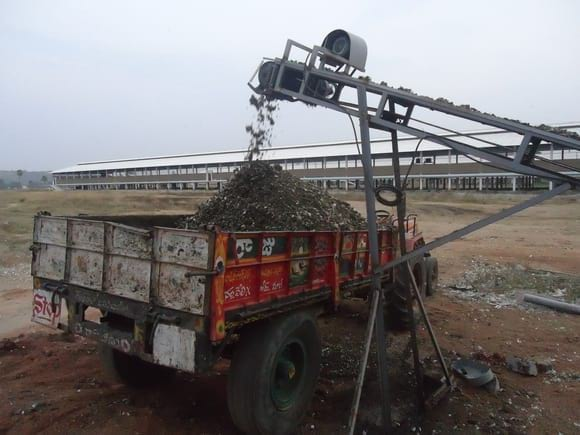 Automatic Litter Loading from EC Sheds - EC Layer project India