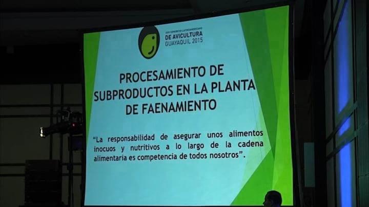 Procesamiento de subproductos en una planta de faena. Florentino Torres Meneses