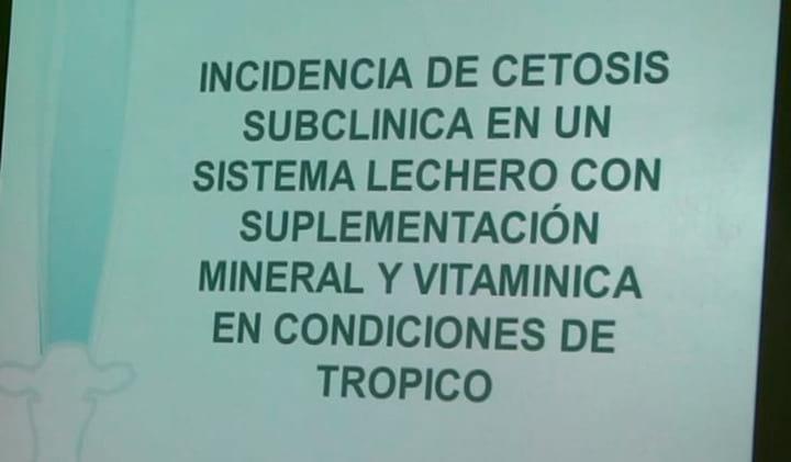 Cetosis Subcl�nica en Sistema lechero: Katherine Garcia Alegria