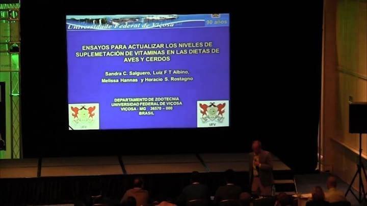 Suplementación de vitaminas en aves y cerdos: Horacio Rostagno