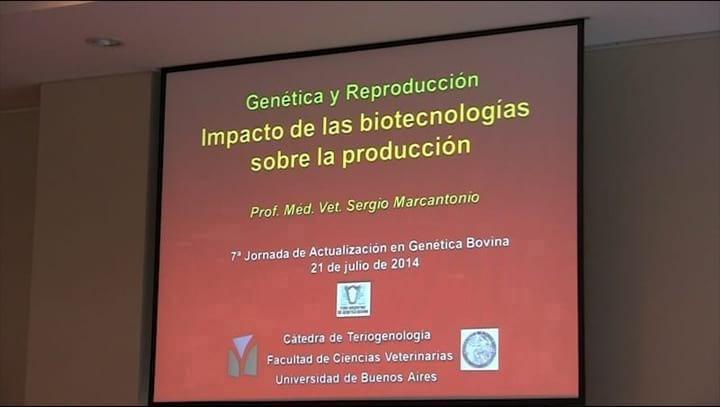 Impacto de las biotecnolog�as sobre la producci�n. Sergio Marcantonio
