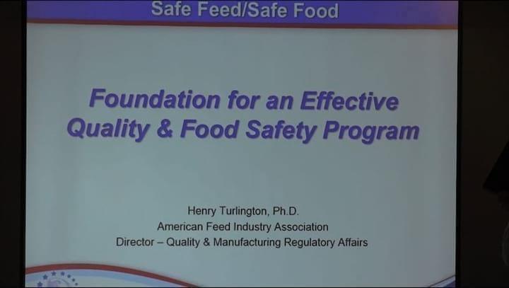 Fundamentos de Calidad y un Programa de Seguridad Alimentaria: Henry Turlington