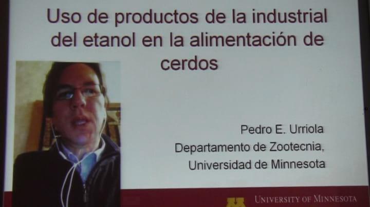 DDG's en la alimentaci�n porcina, Pedro Urriola en TodoCerdos 2014