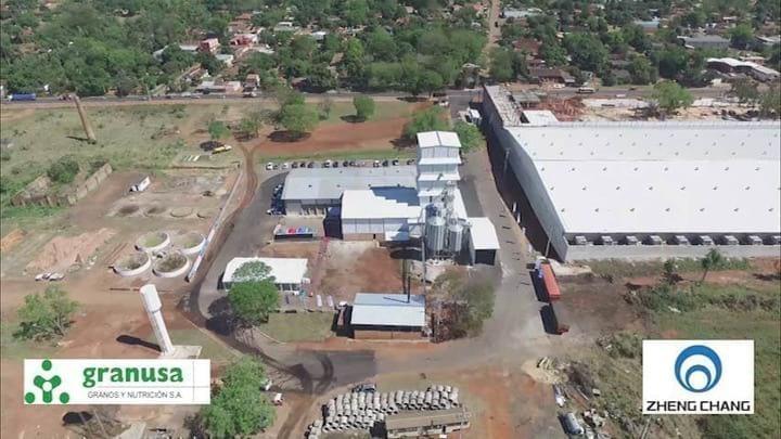 Planta de ultima generación en elaboración de Balanceados - Zheng Chang en Paraguay - Drone