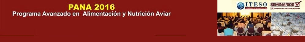 PANA 2016  Programa Avanzado en Alimentaciòn y Nutriciòn Aviar