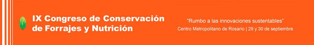 IX Congreso de Conservación de forrajes y nutrición