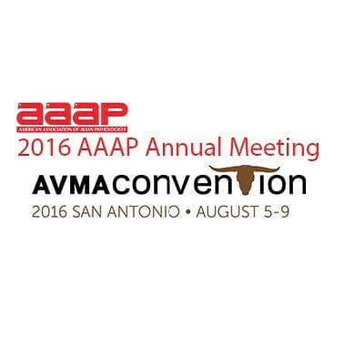 2016 AAAP/AVMA Annual Meeting