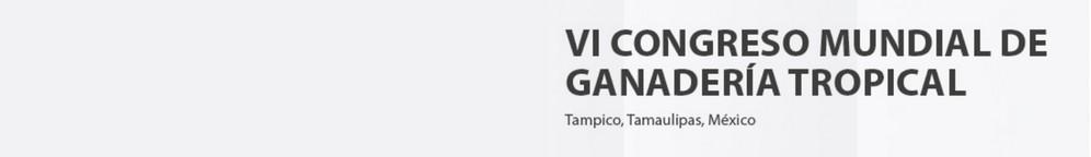VI Congreso Mundial de Ganadería Tropical 2019