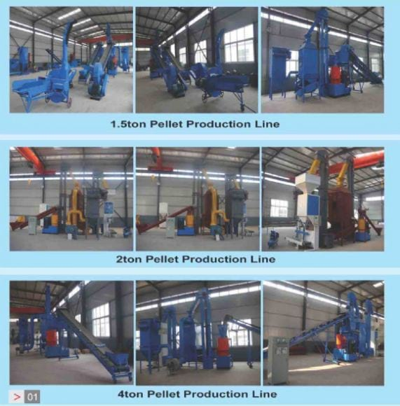 1.5t-4t pellet production line - pellet production line