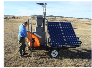 Solar powered GreenFeed for pasture measurements - GreenFeed