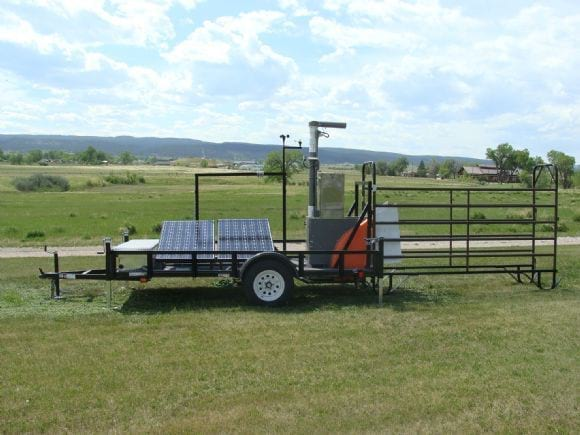 GreenFeed portable self-contained trailer - GreenFeed
