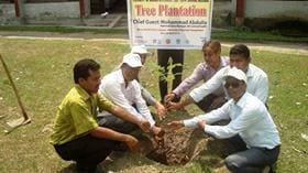 Tree plantation on world veterinary day-14 - Dr Arif