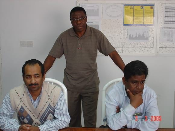 BROILER SITE MANAGER WITH INCHARGES GOLAN MAULA AND SALEEM MUFTUN - AL-WATANIA POULTRY SAUDI ARABIA