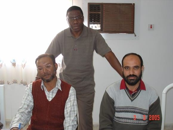 WITH WAJIT AND DR MERHAJUDEEN - AL-WATANIA POULTRY SAUDI ARABIA