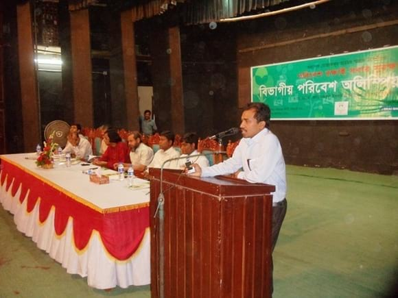 Environmental olympyed at Rajshahi - Dr Arif