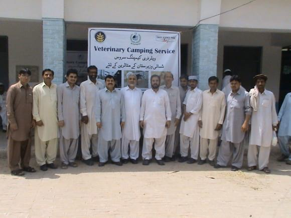 group - Veterinary Camping Service at Bannu for Internally Displaced Persons of North Waziristan