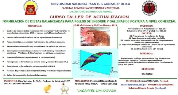 CURSO TALLER DE FORMULACION DE DIETAS BALANCEADAS - Varias