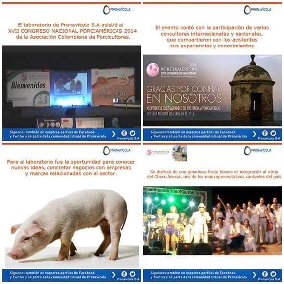 Asistencia del laboratorio al XVII congreso nacional porciaméricas 2014. - Experiencias PRONAVÍCOLA