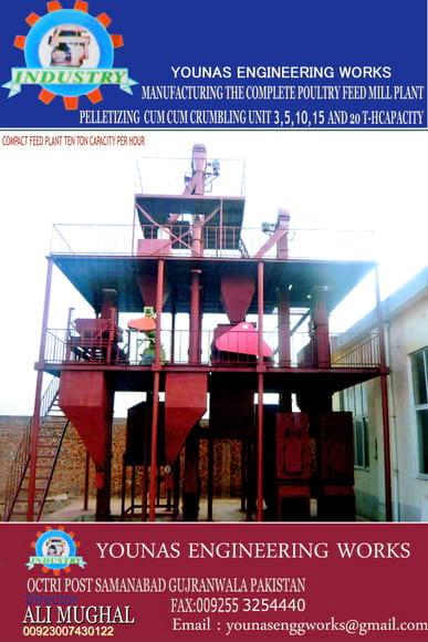 animal cattle feed plant 03007430122 - 03202444879 manufacturer and fabricator poultry feed animal cattle feed plant all kind of machinery and other allied industry.