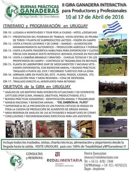 ll GIRA GANADERA DE TRAZABILIDAD en URUGUAY - GIRAS TECNICAS GANADERAS INDUSTRIALES