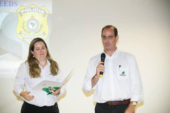 Ricardo Castilho / Rosangela Reche de Souza da Safeeds - III Convenção Anual de Vendas realizada com o objetivo de reforçar a internacionalização e comercialização de aditivos nutricionais.