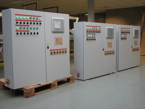 Panel box with touch screen user interface - Poultry equipment