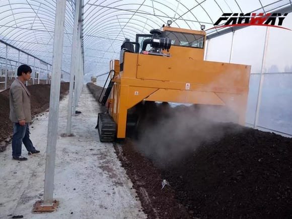 Compost Windrow Turner Working for Organic Fertilizer Compost - My activity