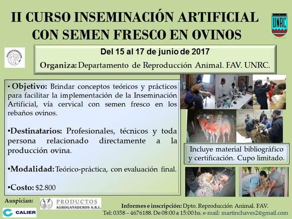 II Curso de Inseminación Artificial con semen fresco en ovinos - Eventos