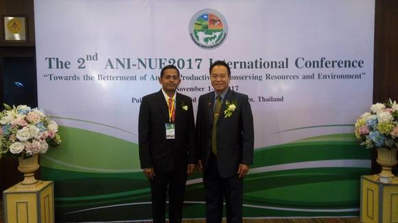 With Prof.Metha Wanapath - 2nd ANI-NUE2017 International Conference, Pullman Raja Orchid, Khon Kaen, Nov 1-4, 2017