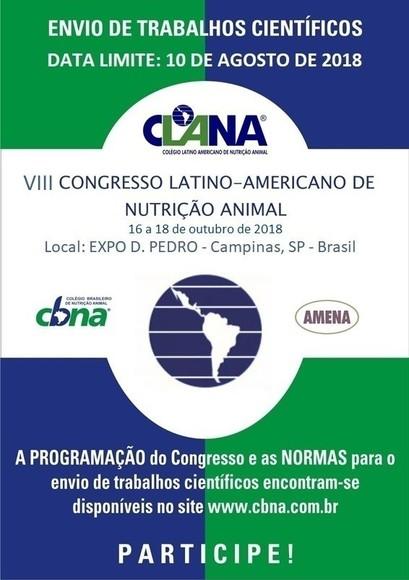 CONGRESSO LATINO-AMERICANO DE NUTRIÇÃO ANIMAL - VIII CLANA CBNA 2018 - Eventos