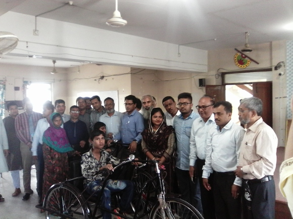 Three wheelers distribution to autistic children at Rajshahi City - My activity