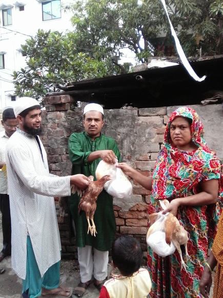 Eid gifts distribution to laggard - My activity