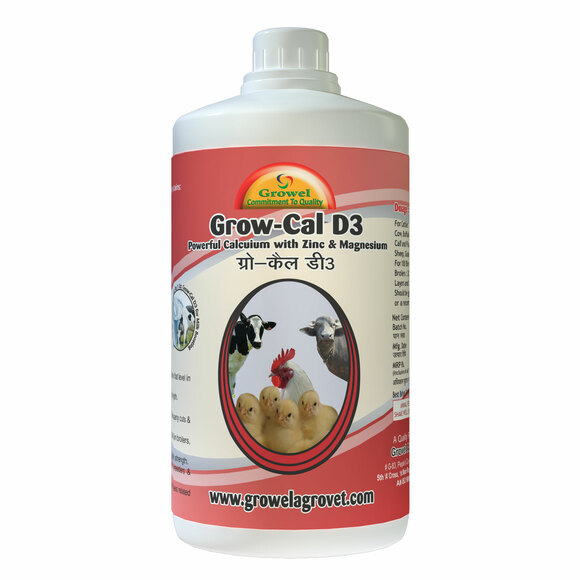 Grow Cal D3 A Powerful Calcium for Cattle & Poultry with Extra Zinc Magnesium. - Clinical issues