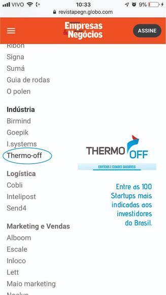 Tecnologia THERMO-OFF - Casos clínicos