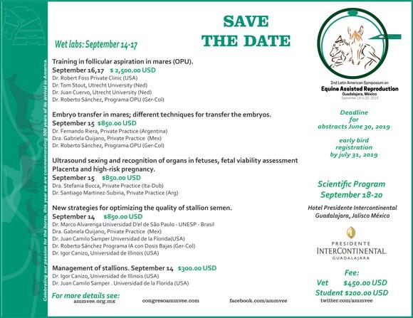II Simposio Lationamericano de Reproducción asistida en equinos 14-17 de septiembre - Casos clínicos