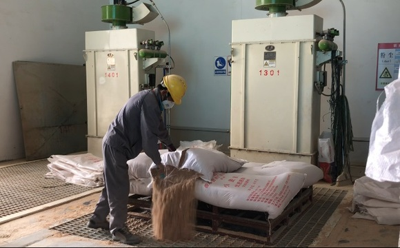 The points of dust generation in feed processing workshop - Clinical issues