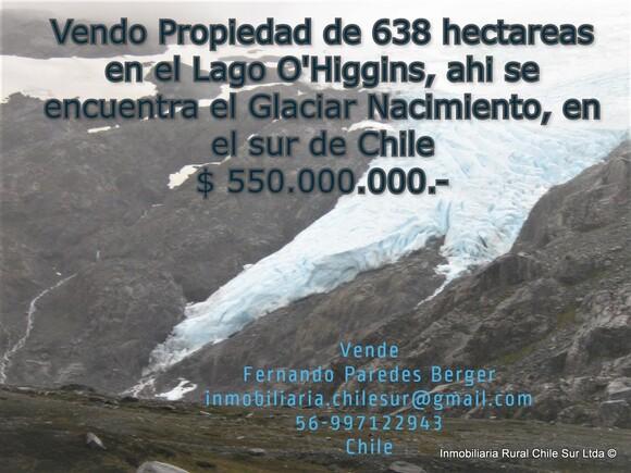 Vendo 638 hectáreas en el Lago O'higgins en el sur de Chile - Mi actividad