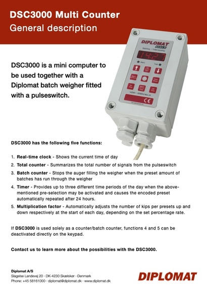 DSC3000 Multi Counter for Diplomat Batch Weigher - Agricultura