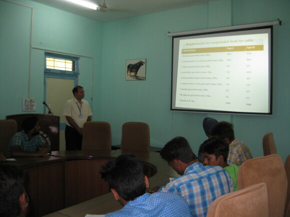 """Lecture on """"Animal Feed Quality"""" was delivered to the trainees - Events"""