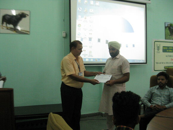 Certificates being given to trainees - Events