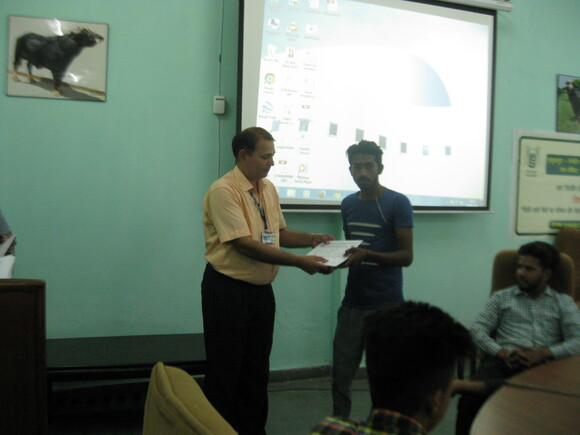 Certificate being given to trainees - Events