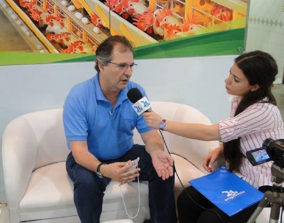 Mauricio Nacif durante entrevista ao Engormix - AveSui 2013