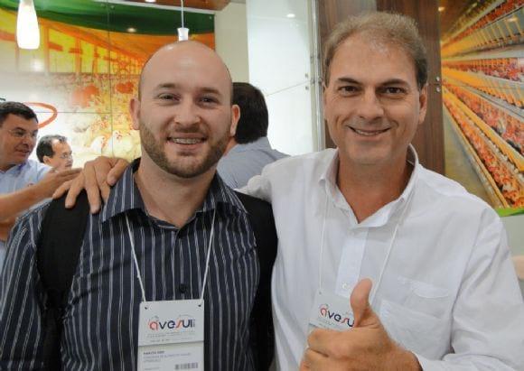 Marcio Oro da Uniaves e Marco Fiuza. - AveSui 2013
