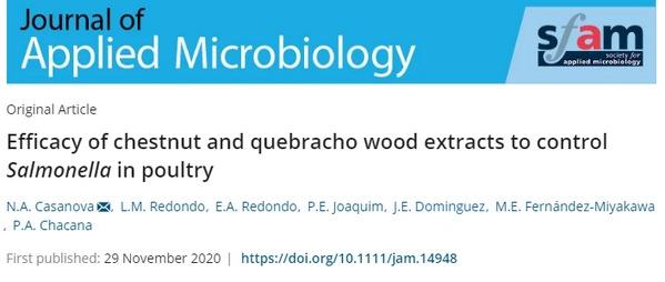Control de Salmonella en aves: Extractos de castaño y madera de quebracho - Image 1