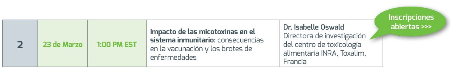 Impacto de las micotoxinas en el sistema inmunitario: consecuencias en la vacunación y los brotes de enfermedades [serie de seminarios web MycoInfo.] - Image 6