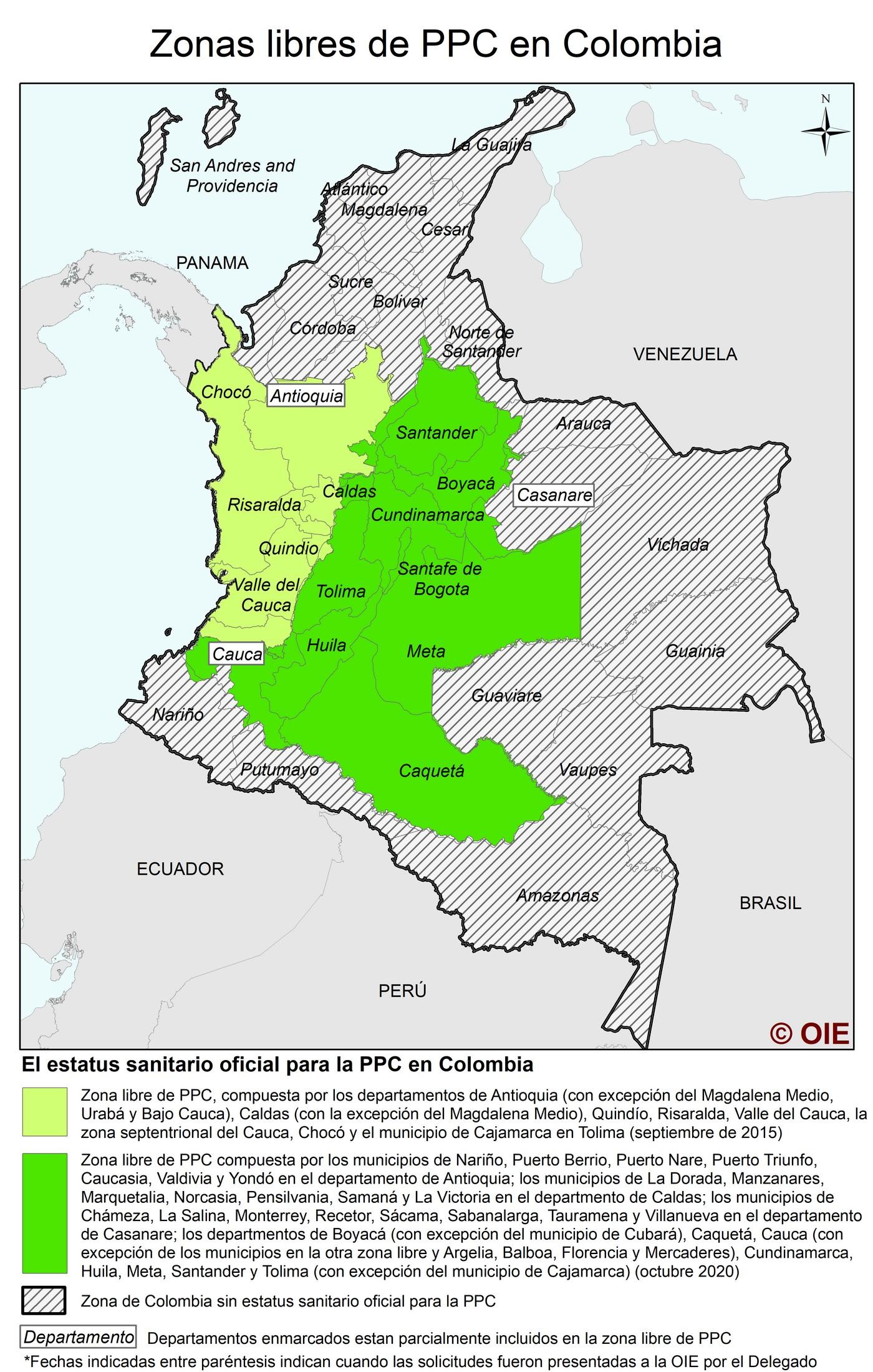 Colombia - OIE certifica nueva zona libre de PPC - Image 1
