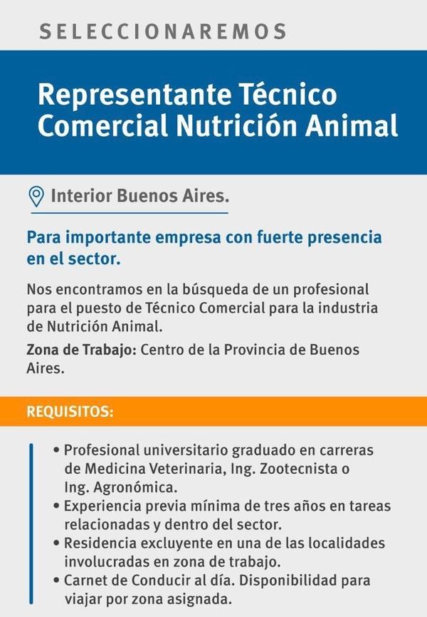 Representante Técnico Comercial Nutrición Animal - Image 1